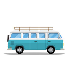 retro travel van icon vector image