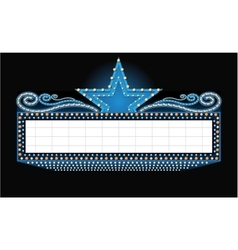 theater sign with place for text isolated vector image