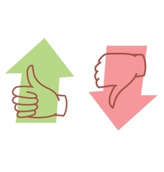 Thumbs up or thumbs down vector