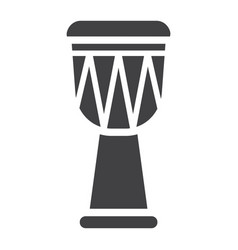 African djembe drum glyph icon music vector