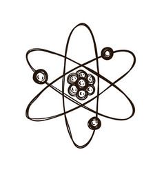 atomic model coloring book for adults vector image