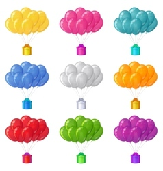 Balloons with a gift boxes set vector