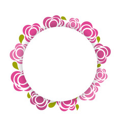 beauty flowers round borders decoration vector image
