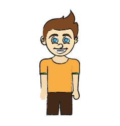 boy blue eyes happy child icon imag vector image