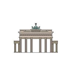 brandenburg gate famous tourist landmark sketch vector image