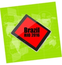 Brazil Rio 2016 Summer Games Digital vector image