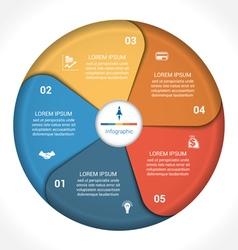 Business pie chart diagram data 5 vector