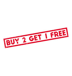 Buy 2 get 1 free rubber stamp vector