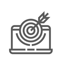 Buzz marketing line icon vector