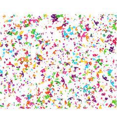 Carnaval or festival confetti colorful pieces vector