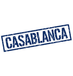 Casablanca blue square stamp vector