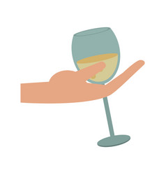 champagne cup symbol vector image