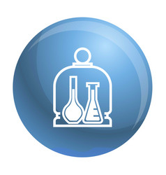 Chemistry glass flask icon simple style vector