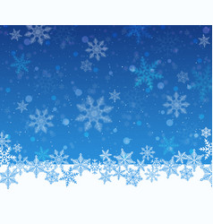 christmas snowy blue background vector image