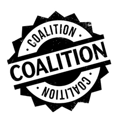 Coalition rubber stamp vector image