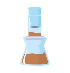 Coffee brew method aeropress isolated icon style vector