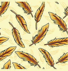 colorful seamless feathers pattern vector image