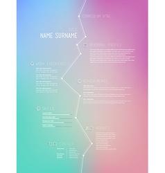 Creative simple curriculum vitae template on vector