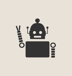 Cute vintage robot icon vector