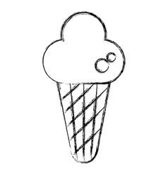 delicious cone ice cream vector image