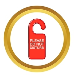 Do not disturb red sign icon vector