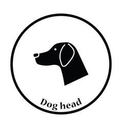 Dog head icon vector image