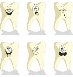 Emotion tooth cartoon set 010 vector