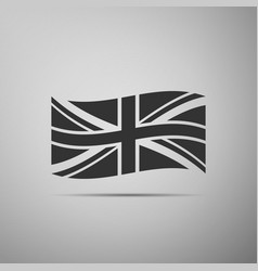 flag of great britain icon on grey background vector image