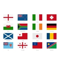 Flags in flat style england and wales scotland vector