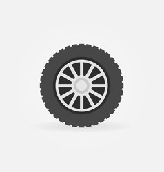 flat car wheel disc icon or symbol vector image