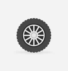 Flat car wheel disc icon or symbol vector
