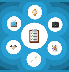 flat icon oneday set of briefcase partnership vector image