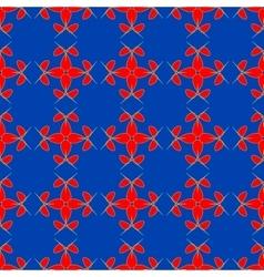 Flowers geometric seamless pattern 1906 vector image