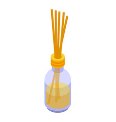 Fragrance sticks diffuser icon isometric style vector