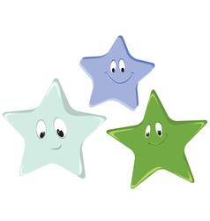 Funny cartoon stars vector image