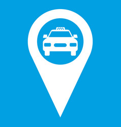 geo taxi icon white vector image