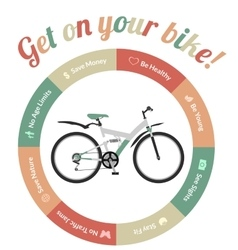 Get On Your Bike vector image