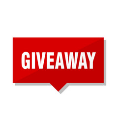 giveaway red tag vector image