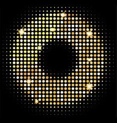 Gold disco lights background golden shiny vector
