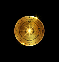 Gold wheel year compass celtic solstices vector