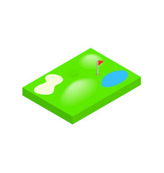 Golf course isometric 3d icon vector image