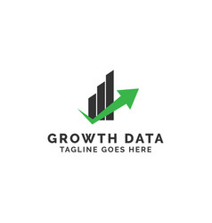 growth data logo design inspiration vector image