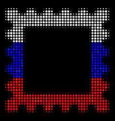 halftone russian postage stamp icon vector image