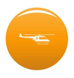 Helicopter icon orange vector