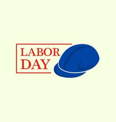 helmet labor day logo flat style vector image