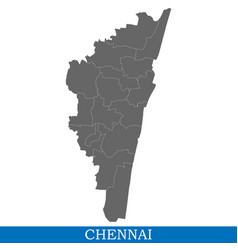 High quality map city of india vector