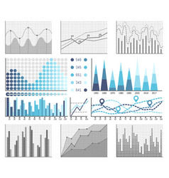 infographics and diagnostics charts and schemes vector image