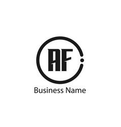 initial letter af logo template design vector image