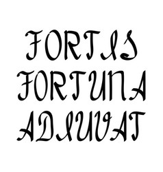 Inscription in latin letters with a black brush vector