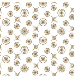 Japanese floral seamless pattern in gold vector